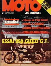 MOTO JOURNAL   61 Road Test GUZZI 850 GT 550 SUZUKI HONDA XL 250 MOTOBECANE 125