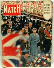 PARIS MATCH MAGAZINE 20 APRIL 1957  VINTAGE NEWS & EVENTS QUEEN ELIZABETH