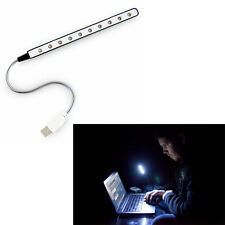 USB LED Keyboard Reading Night Light Flexible 10 Lamp PC Desktop Notebook Laptop