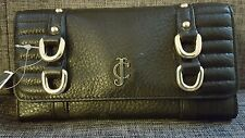 Juicy couture NWT black trifold continental clutch wallet YSRUO123