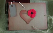 poppy scrapbook old fashioned Photo Album vintage memory book of remembrance