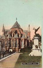 ✚745✚ German Field Postcard Feldpost WW1 MONS MONUMENT DOLEZ 1914 FRANCE