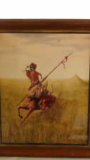 "ORIGINAL POLAND LITHOGRAPH""COSSACK""FROM AN OLD OIL PAINTING SIGNED BY Z.W.BENCEL"