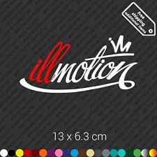illmotion car bumper sticker decal vinyl stance illest jdm - White and Red