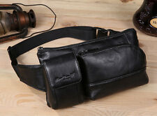 Men Genuine Leather Vintage Hip Bum Belt Pouch Fanny Pack Waist Purse Chest Bag