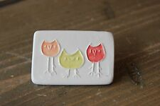 Hand Made Porcelain Ceramic Owl Brooch 4.5 x 3 cm