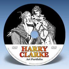 HARRY CLARKE - Over 300 Illustrations on DVD! * Classic Golden Age Art *