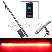 54CM 48 LED Car Knight Rider Flash Strobe Strip Light Waterproof Remote Red New