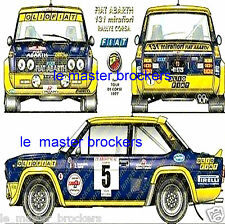 Fiat Abarth 131 mirafiori 1972  Affiche fiche Poster voiture collection
