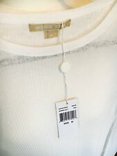 Michael Kors White Top With Sleeves