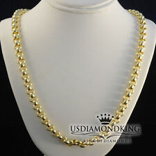 MENS WOMENS 24 INCH 10K 100% YELLOW GOLD 24.3 GRAMS HEAVY BELCHER NECKLACE CHAIN