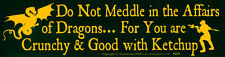 Do Not Meddle In The Affairs Of Dragons... - Magnetic Bumper Sticker Magnet
