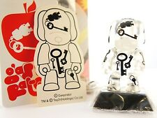 "Toy2r 3"" Key Chain Qee Series 5c Clear Dog Key Gaspirator kidrobot art"