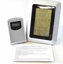 iBoutique Weather Station Alarm Clock Date Calander In Out Temperature + Sensor