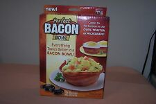 PERFECT BACON BOWL -As Seen On TV, 2 Bowl Pack, NIB, Dishwasher & Microwave Safe