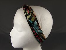 Black Aqua Beige Red long tie wrap turban twist fabric headband head scarf