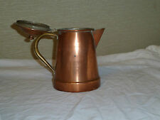 VINTAGE CLASSIC COPPER PITCHER WITH HINGED LID. PORTUGESE.