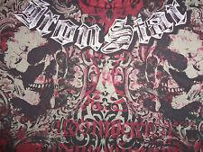 Iron Star Skulls Skeleton Urban Black Graphic Print T Shirt XL