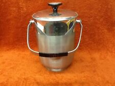 VINTAGE SMALL ALUMINUM ICE BUCKET - MADE IN ITALY B-712 -