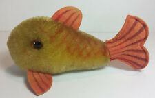 VINTAGE SMALL STEIFF SOFT TOY -  FISH / GOLDFISH FROM THE 1950s 60s - 12cm