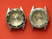 Used aftermarket 36mm empty Divers watch cases 4 parts, projects, or rebuilding.