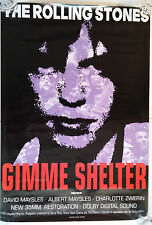 "GIMME SHELTER (R1992) Rolling Stones original one sheet movie poster (27""x39"")"