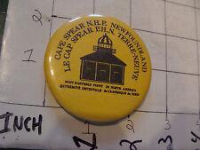 original Vintage Button: CAPE SPEAR N.H.P newfoundland le cap spear p h n terre-
