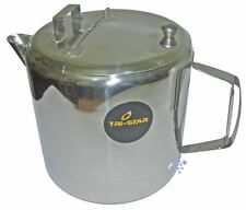 Jumbo Large Catering 4 Litre Coffee Tea Pot Kettle Stainless Steel Double Hand