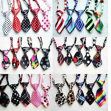 Lot 30 Packs Wholesale  Polyester Silk Pet Dog Necktie Adjustable Bow Tie Ties