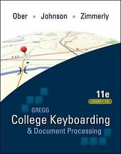 Gregg College Keyboarding and Document Processing Lessons 1-120, Ober Johnson