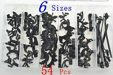 54 Pcs Car Body Wiring Harness Fastener Routing Clips Convoluted Assortment Kit