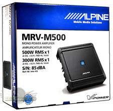 Alpine MRV-M500 Mono V-Power Digital Amplifier Class D Car Amp New MRV-M500