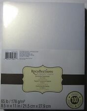 """Recollections Cardstock Paper 8 1/2"""" X 11"""" 100 Sheets White Gold Shimmer"""