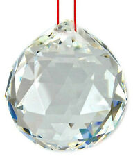 WHITE FACETED FENG SHUI CRYSTAL BALL  ( 40 MM )