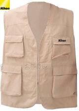NIKON Authentic Pro Photographer Vest of Nikon Free shipping ivory color