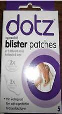 ** 5 DOTZ HYDROCOLLOID BLISTER PATCHES IN 2 DIFFERENT SIZES HEELS & TOES NEW **