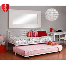 Twin Daybed Frame Metal Furniture Guest Bedroom Adult Bunkbed Dorm Sofa Mattress