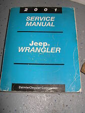 2001 JEEP TJ SERVICE MANUAL SHOP REPAIR WORKSHOP WRANGLER