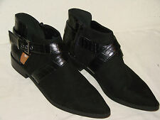 H & M Womens Black Fabric Fashion Ankle Boot NWOB - Size 9.5M or 41 EUR