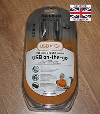 BELKIN USB Mini B TO USB Mini A ON THE GO CABLE LEAD - 1.8M with LED Status