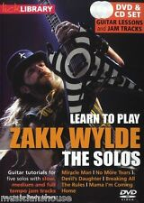 LICK LIBRARY Learn To Play ZAKK WYLDE THE SOLOS GUITAR DVD und CD