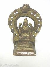 "Lakshmi Bronze and Gold Brass Statue - 3 1/2""- India"