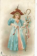 POSTCARD  CHILDREN    Girl in Blue Cloak        Tuck