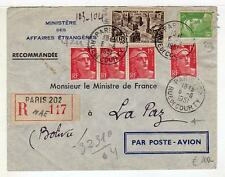A4747) FRANCE 1951 Reg. AMC Paris - La Paz