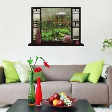 Hot 3D Scene Stereo Window View Decal Wall Sticker Home Decor Art Mural LF