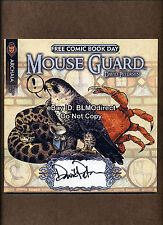 1 Mouse Guard Dark Crystal FCBD 2011 Signed & Sketched David Petersen