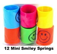 12 Slinky Smiley Mini Springs Pinata Party Bag Fillers Wedding Kids Toy Prize
