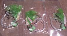 3X SNAPPER FLASHER 2X HOOK FISHING RIGS! 60lb MONO 6/0 CIRCLE HOOKS
