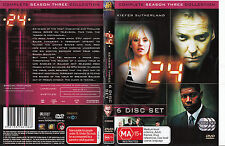24-Kiefer Sutherland-2001/10-TV Series USA-Complete Season Three-6 Disc Set-DVD