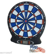 NUOVO ELECTRONIC DART BOARD SET CON FRECCETTE DARTBOARD SAFETY DART BOARD FOR KIDS